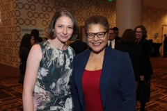 Jessie Kornberg and Rep. Karen Bass