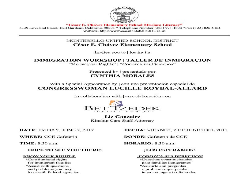 Know Your Rights Immigration Workshop Taller De Inmigracion Bet Tzedek